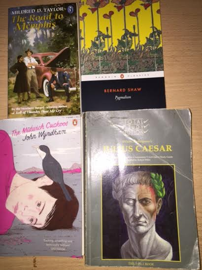Some of the new Lit texts for 2016 onwards